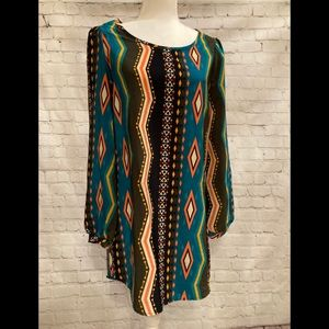DeJavu Indigo mid length dress, Size Small